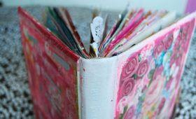 #874 Gör en konstnärlig skissbok av gammal volym