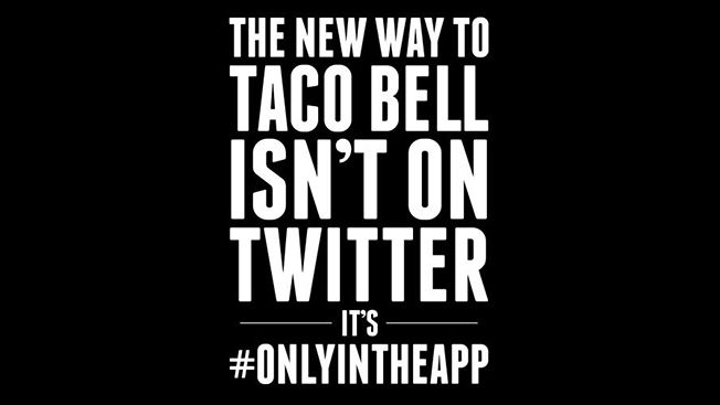Taco Bell Blacks Out Its Social Sites to Launch Mobile App