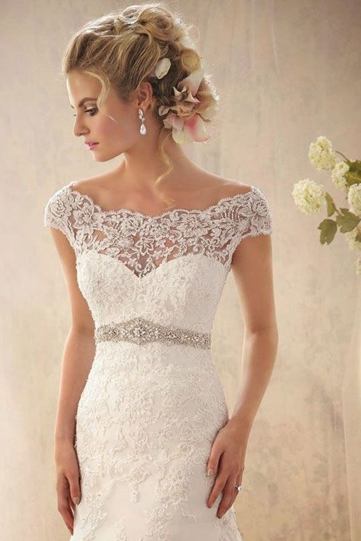 lace wedding dress, lace sleeves