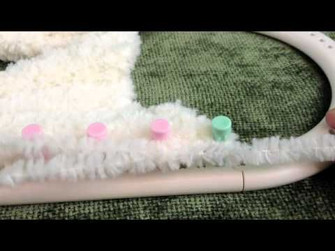 Loom Knitting Stitches Too Loose : Loom Knit - Loose slip knot, stretchy bind-off/ cast-off for flat panel Loo...