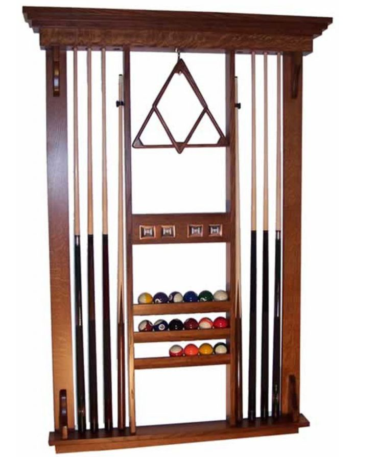 Deluxe Pool Table Accessories Wall Rack - amish direct furniture
