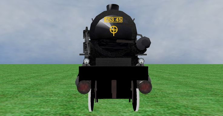 JNR C53 45 steam loco frontview