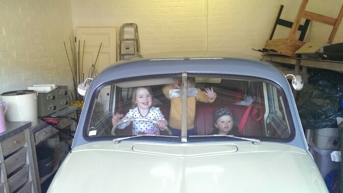 Kids taking the newly arrived FJ for a spin