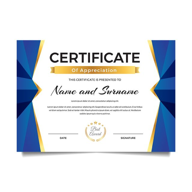 modern premium business certificate of achievement and