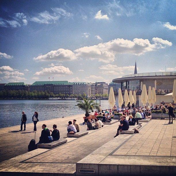 Hamburg zeigt sich von seiner Sonnenseite