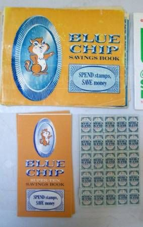 mom collected blue chips stamps, and I would have my own book to save up for something I wanted, like a snorkel & fins set!