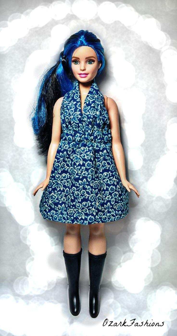 Curvy Barbie Doll Clothes - Handmade Curvy Barbie Dress for the plus sized Barbie Doll.