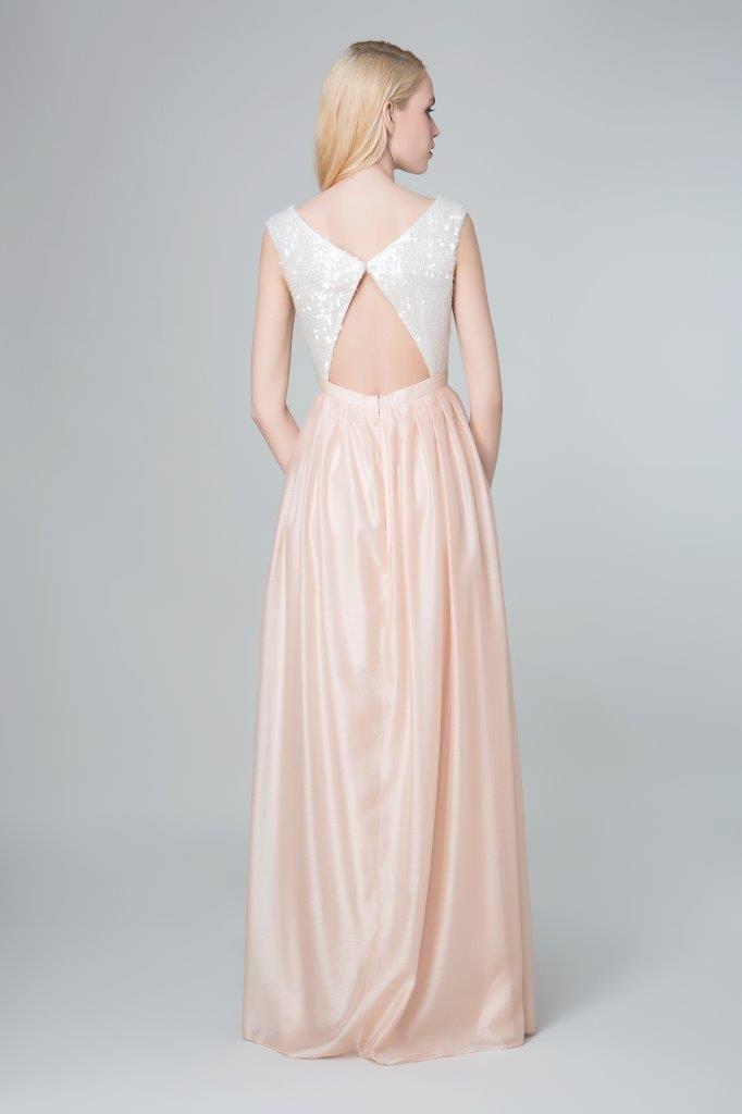 SADONI evening dress ZELMA with portrait back