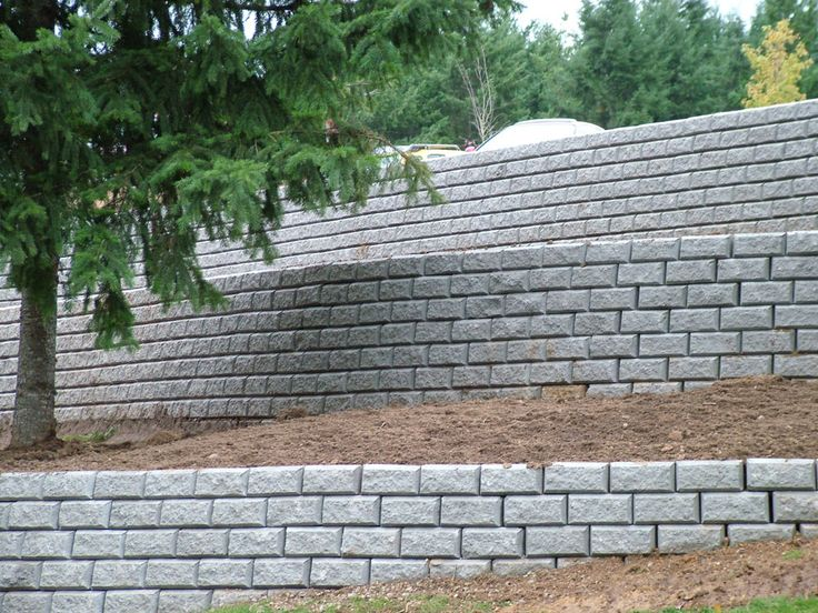 how to build a retaining wall - Using Retaining Wall Blocks for ...