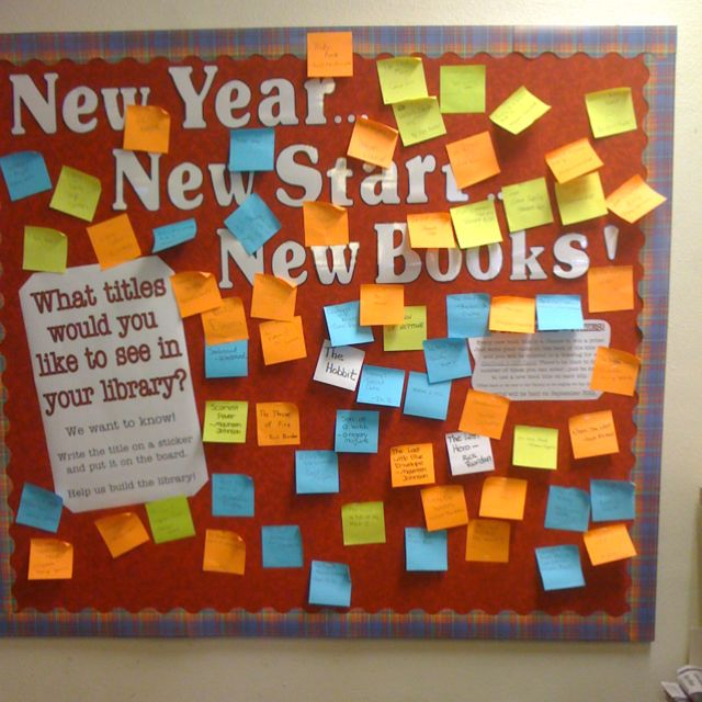 New year, new start, new books display -- What titles would you like to see in the library?