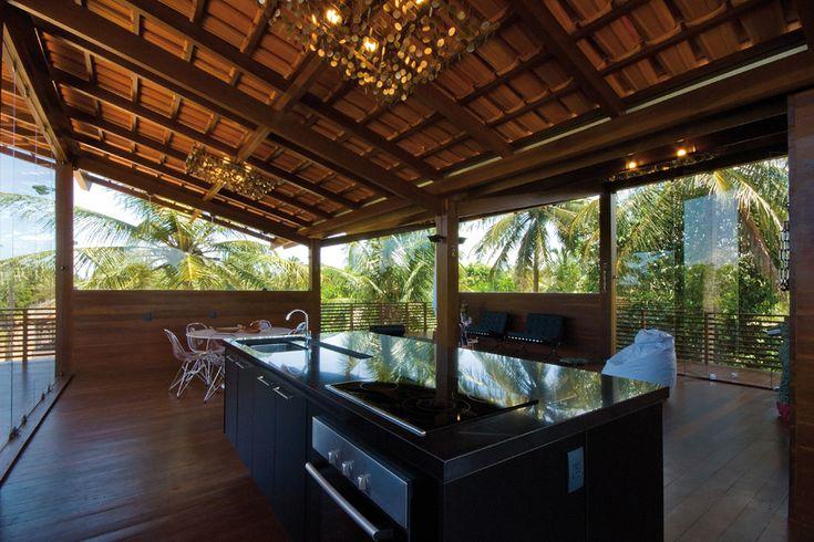 Kitchen in a Brazilian Beach House