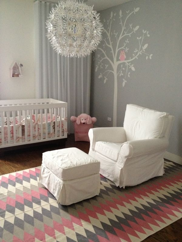 Baby Room Lovely Pink And Grey Square Foot For The Home Pinterest The White Grey And Love The