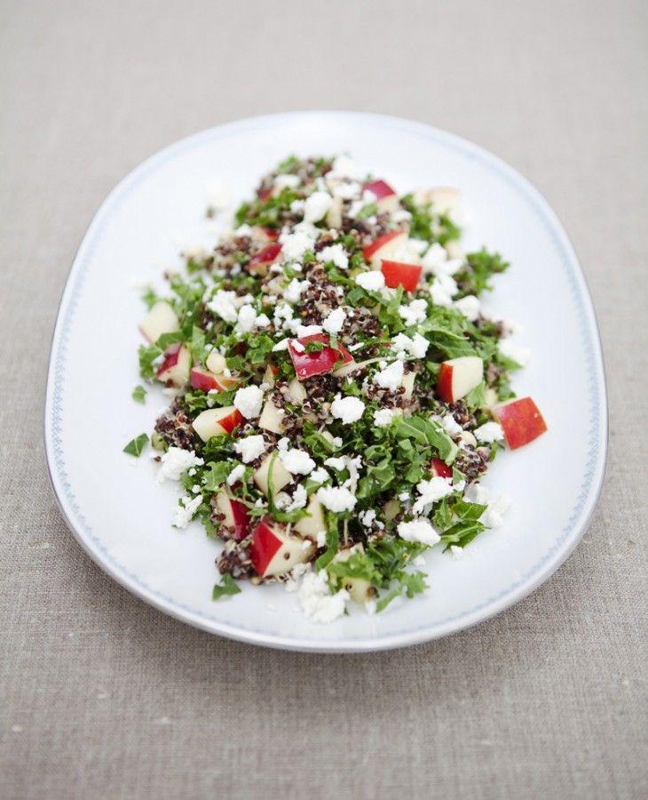 healthy quinoa kale saladBlack Quinoa, Kale Salads, Kale Salad Recipe, Quinoa Kale, Green Kitchens Stories, Healthy Recipe, Cooking Tips, Green Kitchen Stories, Goats Cheese
