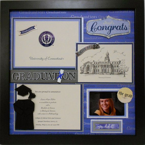 UNIVERSITY OF CONNECTICUT Custom Made Graduation by theshadowbox, $25.00