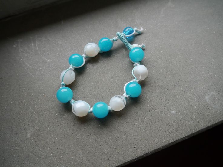 #braccialetto #bicolor #biancoeazzurro #evabijoux #fattoamano #handmade #gioielli #bijoux