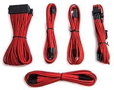 Nanoxia Sleeved Cable Extension Kit Red