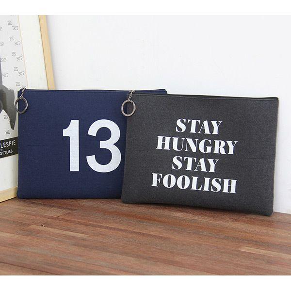 Indigo The Basic felt two tone laptop pouch case v…