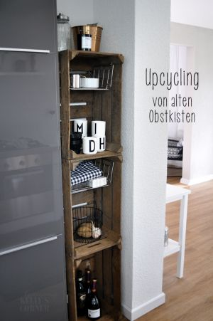 die besten 17 ideen zu obstkisten auf pinterest regale und holz. Black Bedroom Furniture Sets. Home Design Ideas