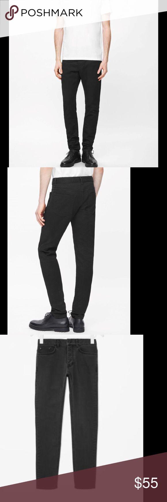 COS black slim tapered jeans Sz 32/32 Black slim tapered jeans worn 1x Retail $149 COS Jeans Slim
