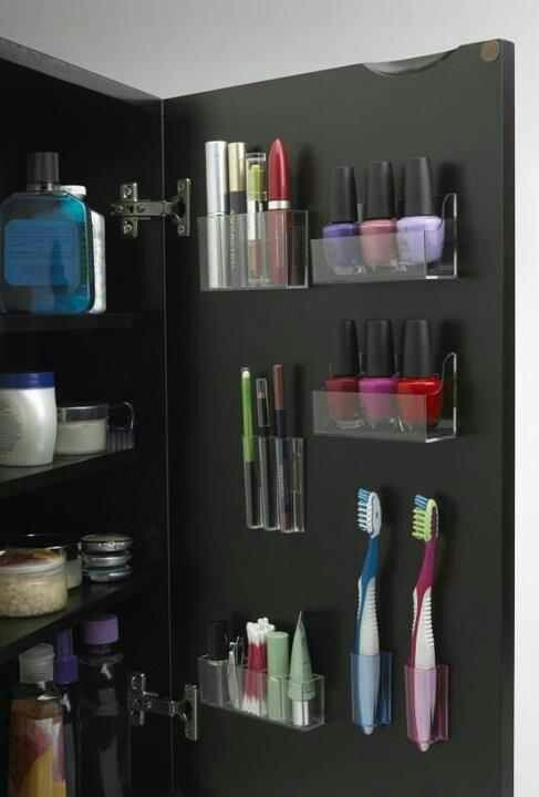 http://tattoo-ideas.us #Bathroom storage. Brilliant!!! Everything needs a home.. This would be perfect for me!