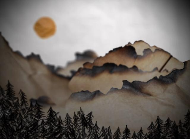 Paperscape by Jessie Kotis. Animation made to accompany previous Sound Experiment. Done at the Memphis College of Art, Spring 2011.