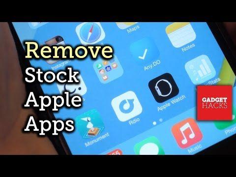 Remove Stock Apple Apps (Apple Watch App)