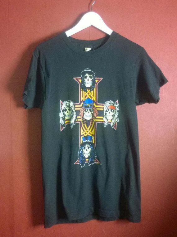 Vintage Band t shirt Black Gun 'n Roses t shirt by VirtageVintage