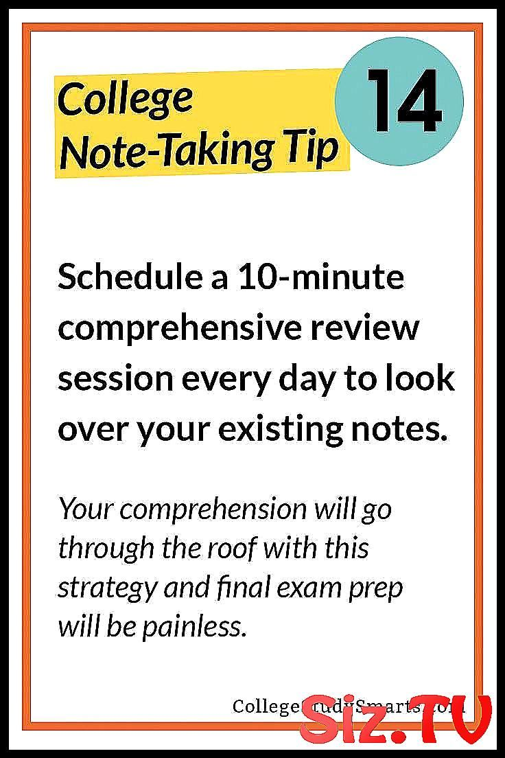 College Note-Taking Tip 14 Schedule a 10-minute co #10minute #awesome #college #…