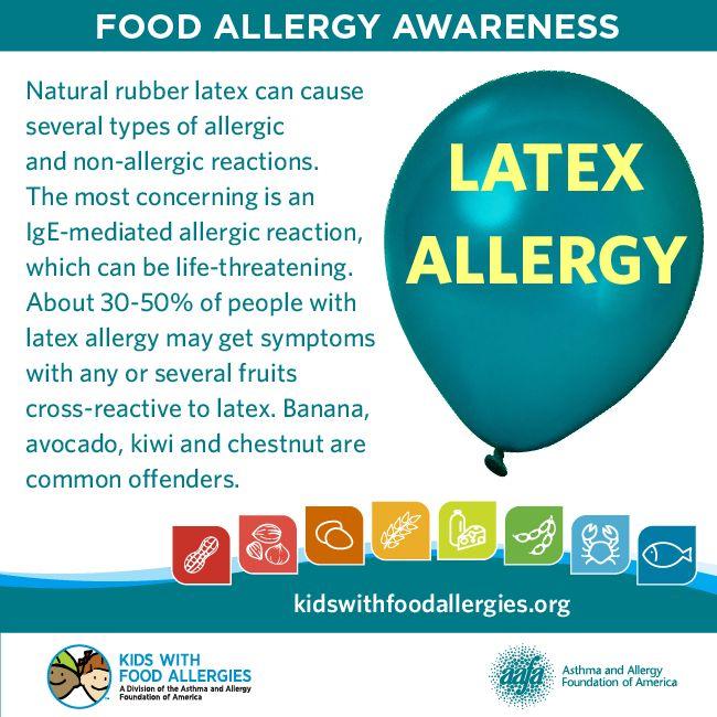 food related latex allergies