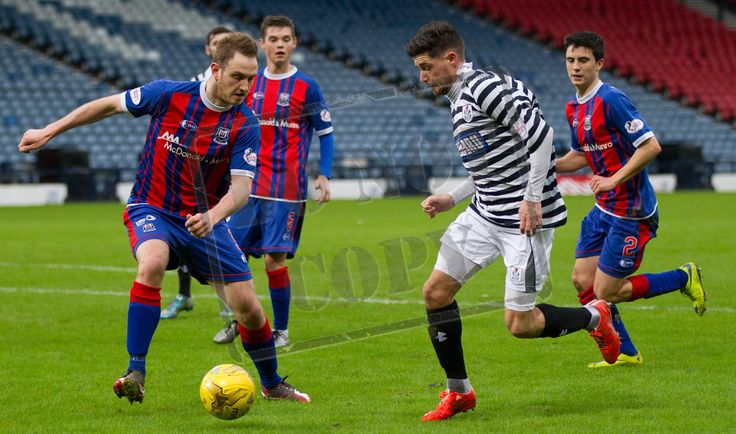 Queen's Park's Paul Woods on the ball during the SPFL League Two game between Queen's Park and Elgin City.