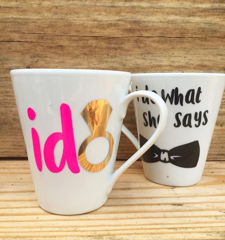 Looking for a perfect engagement present? Look no further  his and hers mugs! Available on Etsy  #Ido #idowhatshesays #mugs #mugset #engaged #engagement #engagedlife #engagementring #engagementpresent #fiance #fiancee #wedding #love #truelove #soulmates #handmade #handmadeseller #handmadeisbetter #etsy #etsywedding #etsyfinds #wifey #wife #husband #bride #bridetobe #groom #goodvibes by sallydaisyink