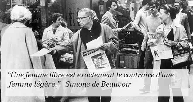 """Simone de Beauvoir a largement sa place parmi les grandes femmes de ce monde. Dès son enfance, elle souffre de sa condition de femme et observe en silence la dégradation du mariage de ses parents. Ses réflexions l'amènent à lutter pour le droit des femmes et la reconnaissance de l'égalité des sexes. Consciente de ses capacités intellectuelles, elle lutte pour trouver sa place dans un monde d'hommes. Découvrez notre """"compilation"""" des meilleures citations de Simone de Beauvoir."""