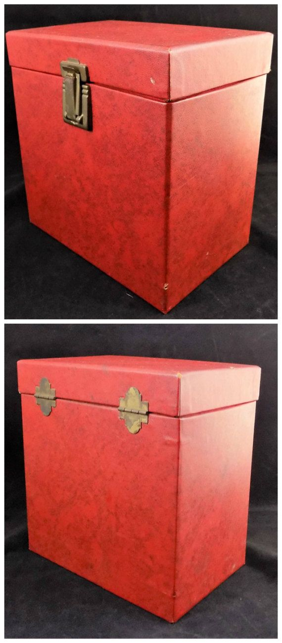 Red Amfile Case 45 Record Case Holds 50 Size 45 by ShellyisVintage