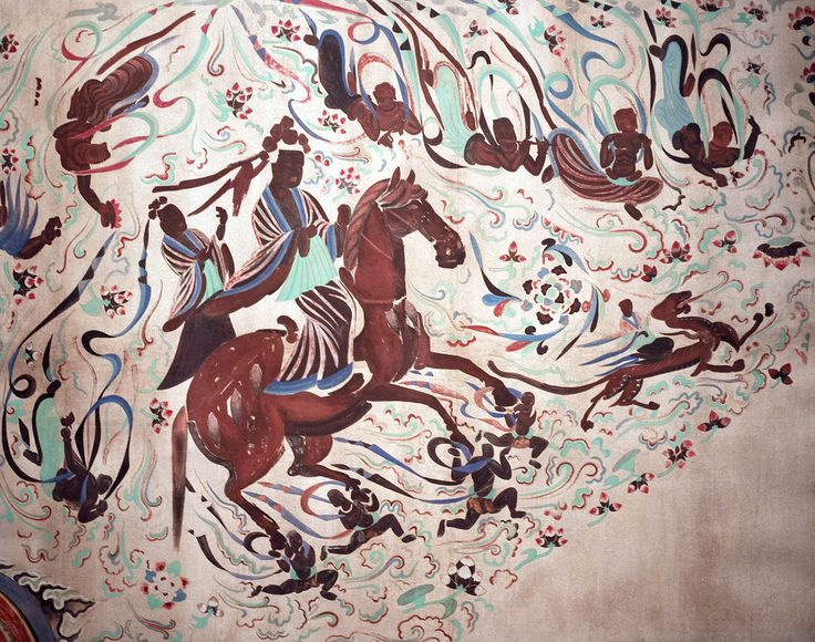 The Great Departure | Early Tang dynasty, Mogao Cave 329, Dunhuang
