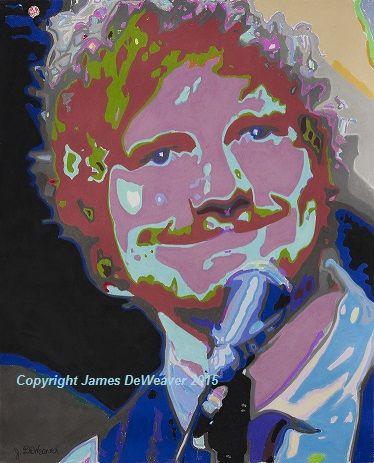 Ed Sheeran Original Pastel Art Portrait from Ed's 2014 Royal Gala performance. #edsheeran #art www.jamesdeweaver.com.au/