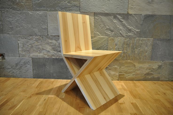 "Krzesło / Chair ""X""  www.facebook.com/QbaConcept  Made in Poland"