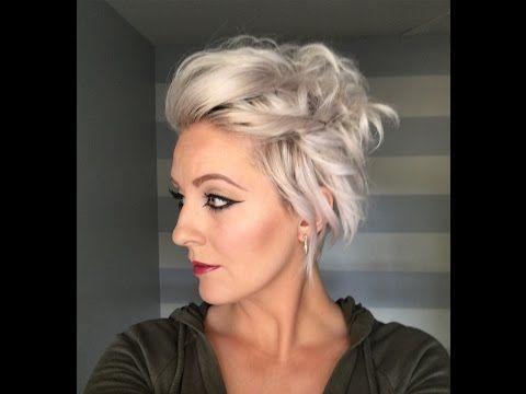 Dutch Braid with a twist on short hair. - YouTube