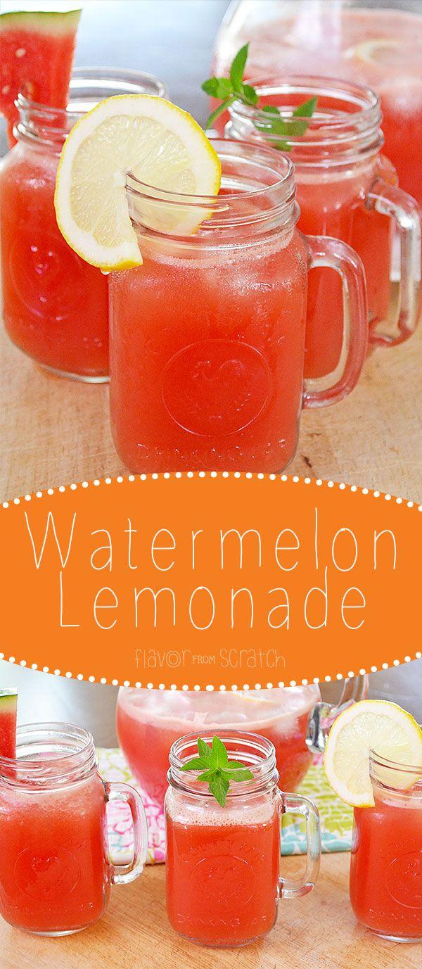 Watermelon lemonade...Perfect summer drink!
