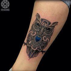 #Owl Tattoo von Coen Mitchell – Coen Mitchell auf #Instagram. #savemyink Sei…