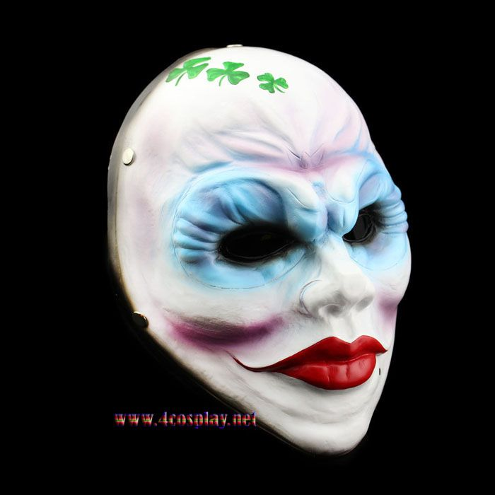 Payday 2 Female Robber Cosplay Mask Female Heist Clover Mask With