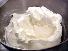 Stabilized Whipped Cream Frosting (Add unflavored gelatin so your whipped cream holds together longer.)
