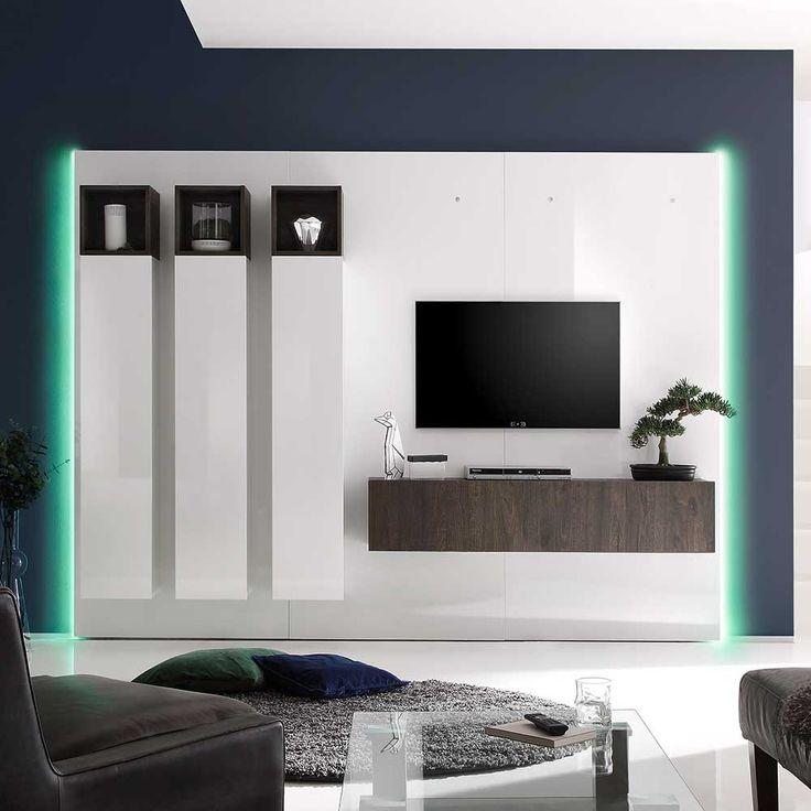 Die besten 25+ Tv schrank weiß hochglanz Ideen auf Pinterest Bad - wohnwand wei modern