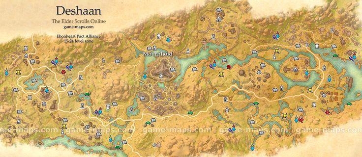 Deshaan Map - The Elder Scrolls Online