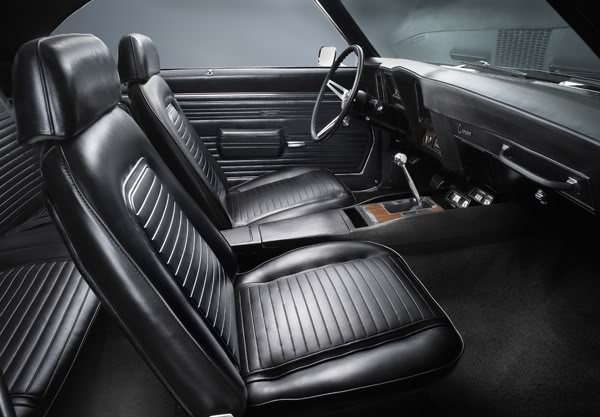 The 1969 Chevy Camaro SS/RS from the Dream Giveaway is finished in triple black with a 4-speed transmission and only has 25,000 miles on it. Gorgeous interior! www.winthecamaros.com