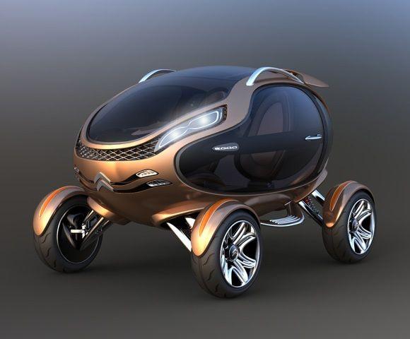 Citroën EGGO - Um carro conceito em forma de Ovo para as ruas do futuro.   ROCK N' TECH