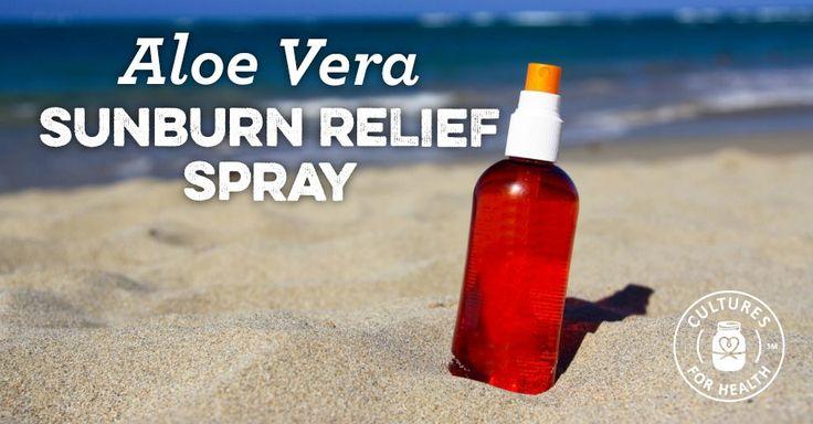 Aloe Vera Sunburn Relief Spray