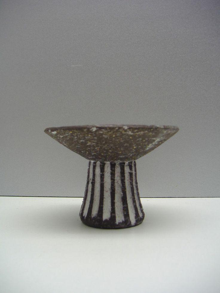 "Westraven Holland candleholder in brown chamotte 4.1"" dutch mid-century ceramics"