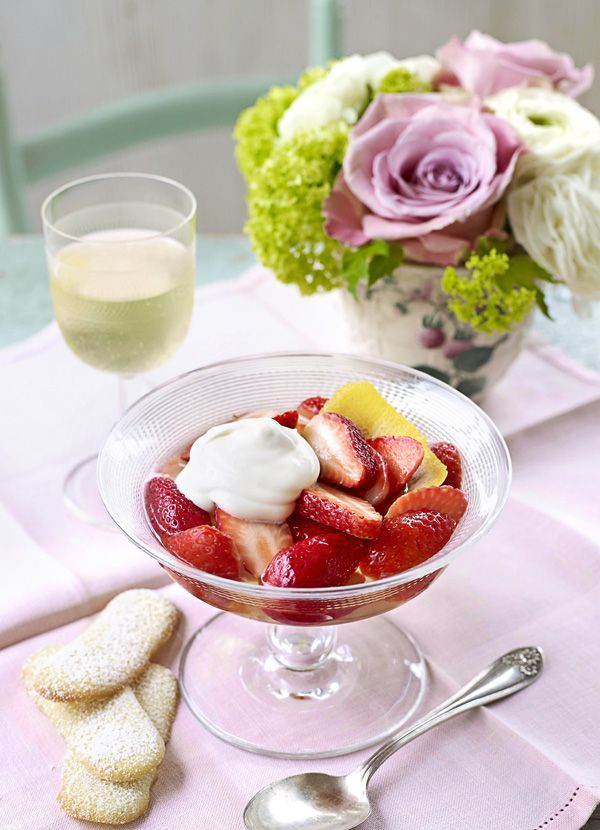 This easy recipe from Valentine Warner makes for a great summer pudding. With a great balance of sweetness and zesty acidity, sauternes (a dessert wine from Bordeaux) works fantastically with strawberries.