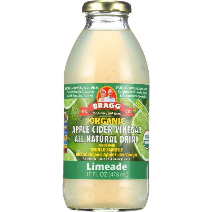 Bragg Apple Cider Vinegar Drink - Organic - Limeade - 16 oz - case of 12