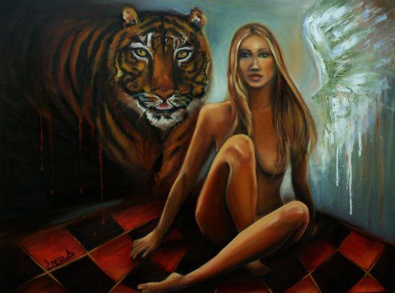 Oil painting modern art paintings. Surreal by artstudioAreti, €350.00